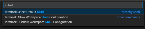 VS Code Prompt - Shell
